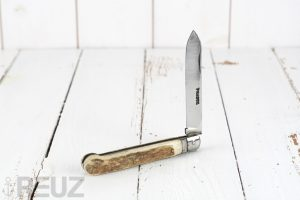 Couteau ancien de gentleman Pradel Thiers manche bois de daim
