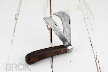Couteau de travail double lame serpette véritable Pradel marqué SNCF